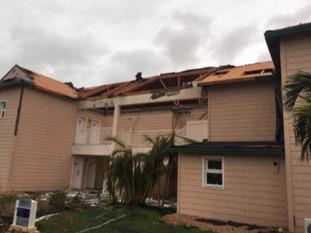 Steve's hotel was badly damaged