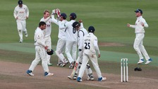 Essex celebrate victory over Warwickshire that seems certain to clinch the County Championship