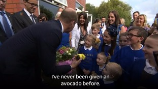 Four-year-old boy gives Prince William avocado to help Kate's morning sickness