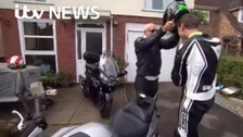Motorcyclist's amazing recovery after crash
