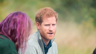 Prince Harry goes wild in the Essex countryside