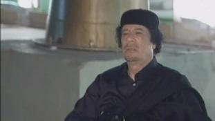 Former Libyan leader Colonel Muammar Gaddafi.