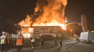 Timber yard blaze causes major disruption to London rail services