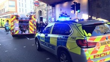 Police at scene of 'explosion' at London tube station