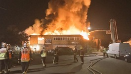Timber yard fire disrupts Milton Keynes rail services