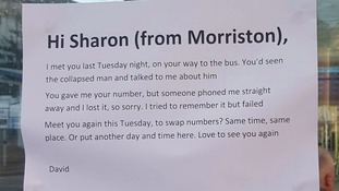 Bus stop note