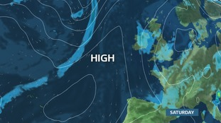 A ridge of High Pressure edges in by the end of Saturday