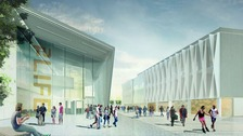 Artist's impression of new campus buildings.
