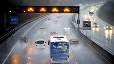 M5 Motorway in North Somerset