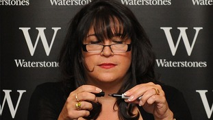 E L James during a book signing at Waterstones in Piccadilly earlier this year