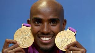 Olympic track hero Mo Farah