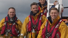 All at sea: Ipswich players take to the lifeboat