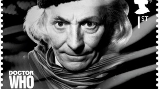 Doctor Who stamp, showing the first Doctor William Hartnell