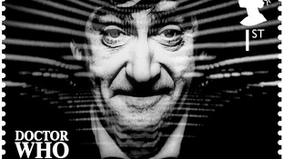 Doctor Who stamp, showing the second Doctor Patrick Troughton