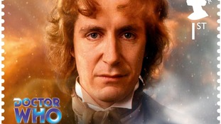 Doctor Who stamp, showing the eigth Doctor Paul McGann