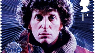 Doctor Who stamp, showing the fourth Doctor Tom Baker