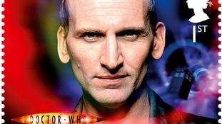 Doctor Who stamp, showing the ninth Doctor Christopher Eccleston