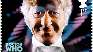 Doctor Who stamp, showing the third Doctor Jon Pertwee