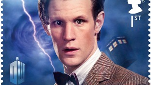 Doctor Who stamp, showing the eleventh Doctor Matt Smith