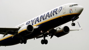A Ryanair flight.