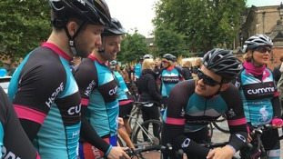 Cyclists set off on 300-mile journey to raise money for cancer charity