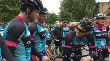 The journey will see the cyclists complete the 300-mile-round trip over four days.
