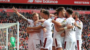 Premier League: Burnley hold Liverpool 1-1 at Anfield