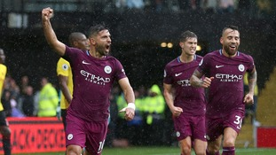 Aguero nets hat-trick as Man City hit Watford for six