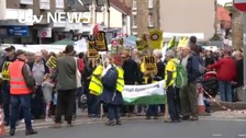 Campaigners take to the streets to protest against fracking proposals