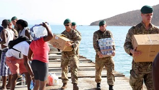 'Extraordinary' British troops praised for Hurricane Irma relief effort