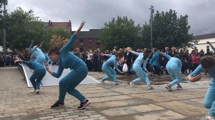 Schoolchildren perform outdoor ballet in busy weekend for City of Culture