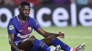 Barcelona's Dembele out until 2018 with hamstring injury