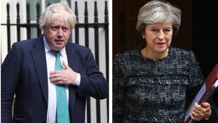 Has Boris Johnson tried upstaging Theresa May?
