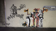 Two Banksy artworks spring up in central London
