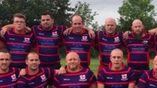Josh Gilbert (back row, centre) was known to his friends as 'Bear'.