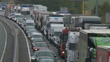Motorists face long delays after M1 crash