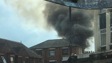 A fire at the Al Badar restaurant in Midland Road, Bedford left the building severely damaged.