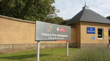 Police and Fire HQ sign