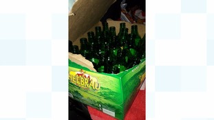 M6 drunk driver found with 27 empty beer bottles