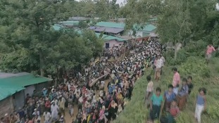 Rohingya refugees.