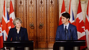 Theresa May and Justin Trudeau held talks.