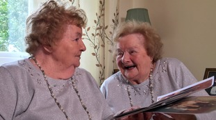 'We've never argued!' - 90 year old identical twins share their secret to a happy life
