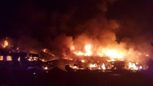 Over 100 firefighters tackle fire at Tottenham warehouse