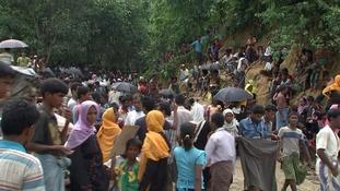 Almost half a million Rohingya have fled Myanmar in the last few weeks.