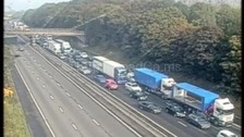 M1 closed while police probe 'suspicious object'