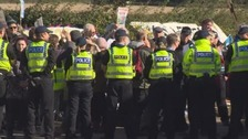 Two arrested at anti-fracking protest in Kirby Misperton