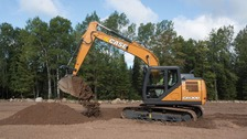 The stolen case excavator is similar to the one in this picture