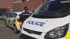 Police guards at the scene at Hexthorpe in Doncaster