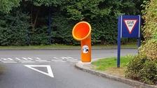 New 'funnel' bins aim to stop littering on motorways