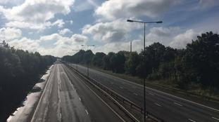 Parts of the M1 have been deserted all day
